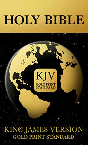 The Holy Bible: King James Version: Gold Print Standard